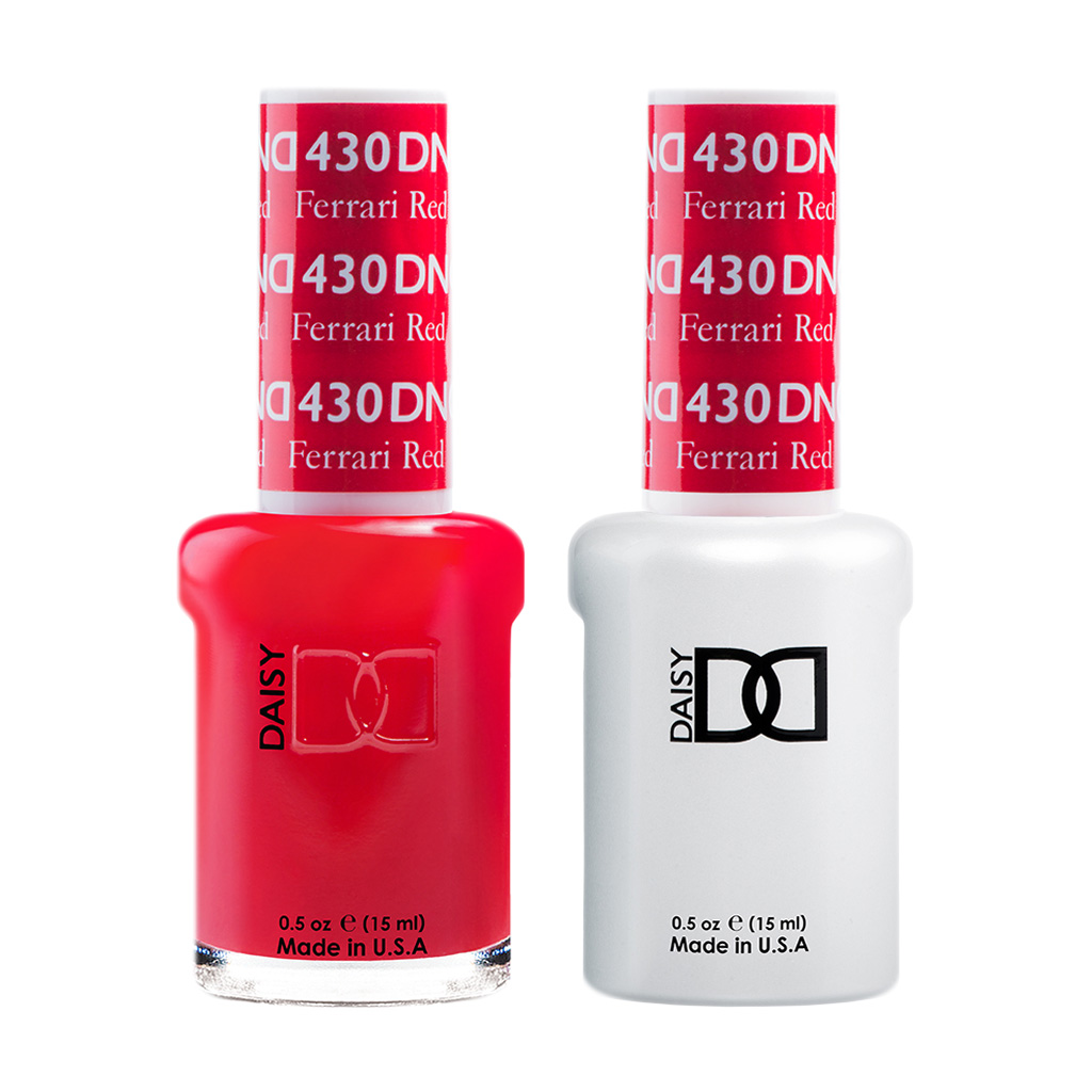 Dnd 430 Daisy Gel Lacquer Duo Ferrari Red American Beauty Supply Australia